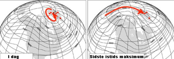 500 hPa-højde, som cirka svarer til retningen af middelvinden i fem kilometers højde.